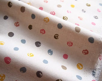 Thick linen fabric and cotton polka dot colorful 47 * 50 cm