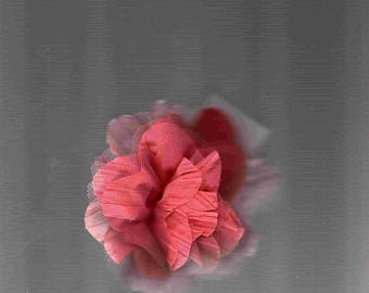 Flower hairclip coral color for clothing