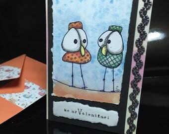 card model unique Valentine's day... birds ;-)