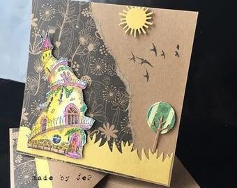 """card """"fairytale Castle"""""""