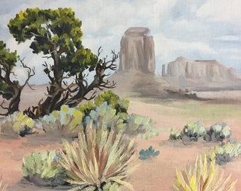 Original Southwest Painting • Desert Southwest Landscape Painting • Wall Decor • Desert Painting •  Home Decor