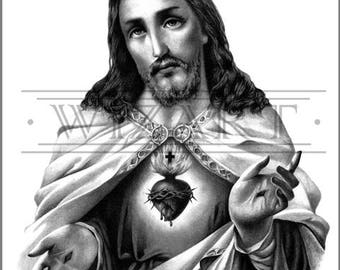 The Sacred Heart, I - ART PRINT