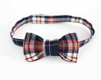 Plaid baby/toddler bowtie adjustable ceremony