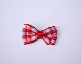 2.8 cm red gingham bow