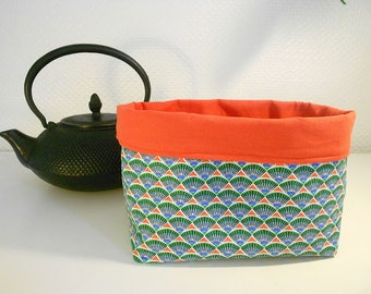 Storage basket - Collection range green/blue - 100% cotton coated