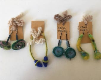 Beautiful felt earrings