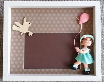 Picture frame for child room with character 2D