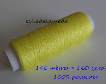 Spool of thread sewing lemon 146 m 100% polyester