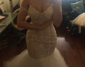 Line Wedding Floor Greek Style 2017 new design weding dress White Dresses 2017 Beaded Sequined Tulle Appliques Lace-Up