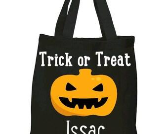 Trick or Treat Tote, trick or treat bag, personalized tote bag, personalized trick or treat bag, candy bag, treat bag, Halloween treat bag