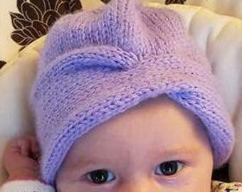 CLOCHE HAT, Slouchy Hat, Baby Hat, Womans Hat, Hand Knitted
