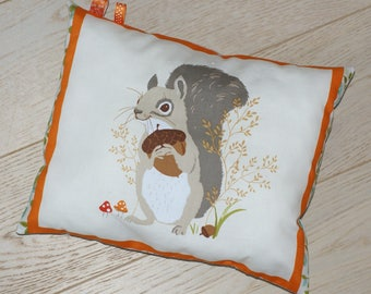 OWL cushion forest autumn squirrel