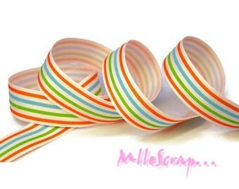 """1 meter printed Ribbon """"stripes"""" embellishment scrapbooking cardmaking"""