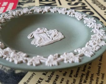 "Green & White ""Wedgwood"" Jasperware Ornament!"