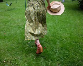 Elevint Japanese Sleeveless Cotton Dress in Grass Green, Summer!!