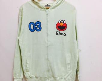 Vintage Sesame Street Elmo Hoodie / Sweater Size M