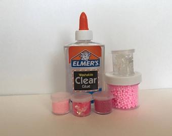 Pink Glitter Floam Kit