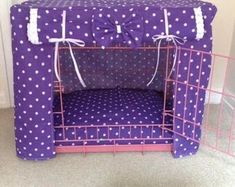 Made to measure dog / puppy crate cover/dog bed cover/ puppy training / dog cover/ dog crate