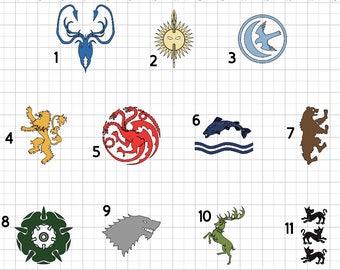 Game of thrones Inspired  house sigil stark lannister Baratheon tyrell Mormont greyjoy arryn tulley vinyl Decal ***PLEASE READ***