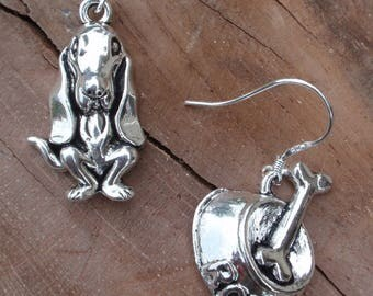 Dog earrings and his Bowl tibettan silver money clip.