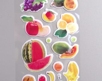 22 Stickers fruits  .