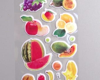 22 fruit Stickers.