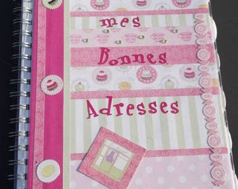 Organizer of addresses for the whole family scrapbooking
