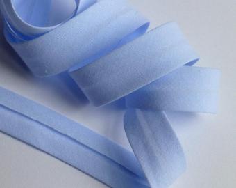 4 m through a plain 10mm - sky blue cotton