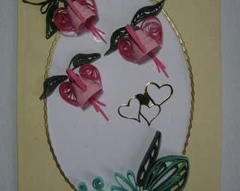 Quilled flower card