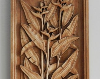 FLOWER CARVED in MAPLE
