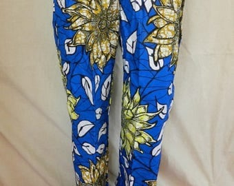 Loose-fitting pants in cotton unisex African wax print fabric for your elegant and leisure