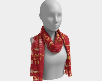 "Beautiful Scarf, Head Scarf, ""Design 13.0147, Made to order"""