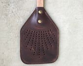 Sven Flyswatter - Leather Flyswatter - Multiple Colors, Double Leather Stitch for Strength, Oak Shaft, Pine Handle
