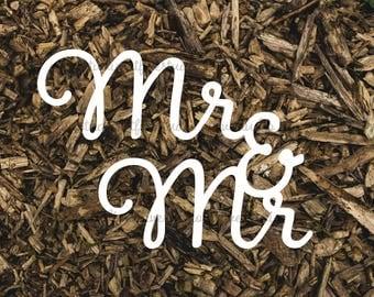 Mr & Mr Clipart Wedding Typography Wordart Greeting Sentiment Love Papercutting Download JPG PNG