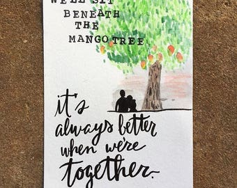 "Watercolor Card ""It's always better when we're together"""