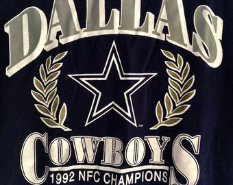 1992 Dallas Cowboys NFC Champions T Shirt