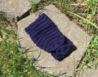 Blue Knitted Headband