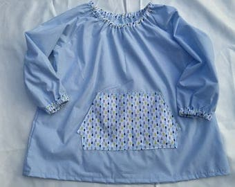 Small pocket school blouse/blouse drops 3/4 years