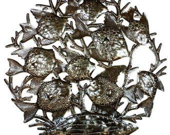 School of Fish - 24 Inch Metal Art
