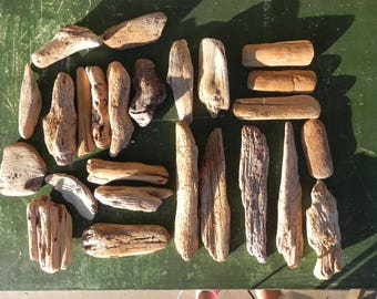 Set of 24 small Driftwood for your creations