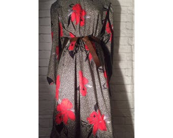 Vintage Floral Long Dress 1980 size 8-10 // 80s dress // 80s fashion // vintage maxi dress // 80s style dress // vintage dress