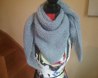 Trendy scarf hand knitted shawl