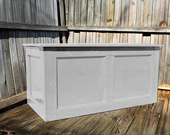 Grey, Large Hope Chest, Toy Chest, Trunk, Coffee Table, Entry, Wooden Chest