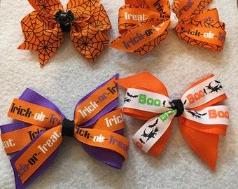 Happy Halloween hair bows