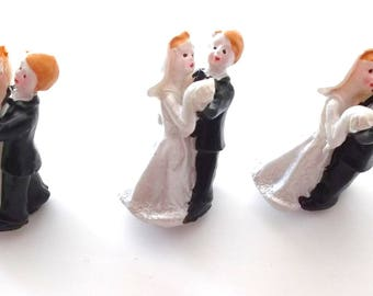 SET of 6 - COUPLE of NEWLYWEDS - stickers - 20 x 35 mm