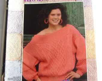 French MODES & work - June 1986 KNITTING booklet