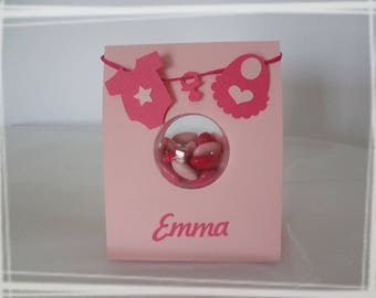 Ball plexi baptism favors box
