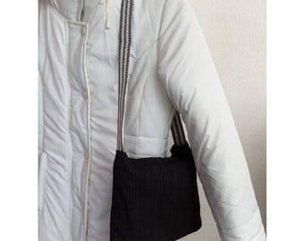Polyamide and polyester by BAGART striped shoulder bag