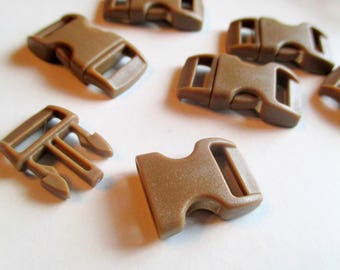 x 1 bow clip - brown / chocolate - 30 mm x 15 mm - plastic