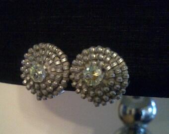 Silver-tone zipper earrings